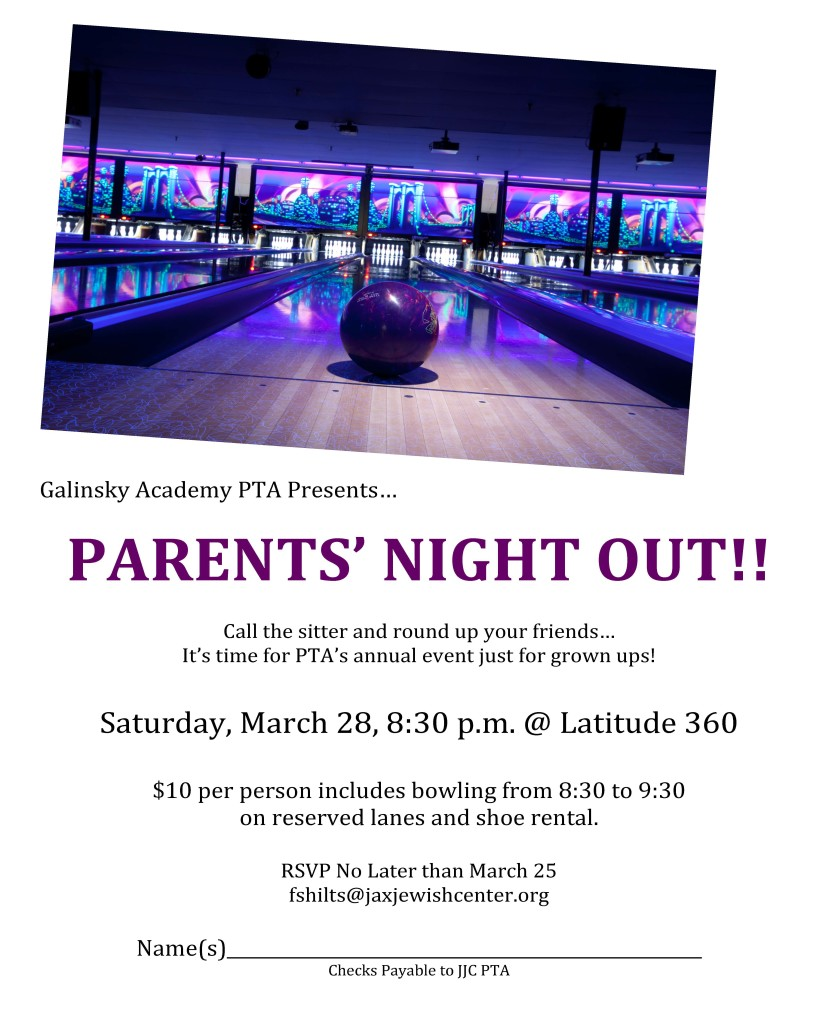 Parents Night Out Flyer 2015
